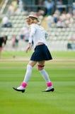 English cricket fan in fancy dress Stock Images