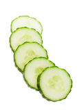English Cucumber Slices Stock Images