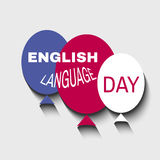 English day2. Learning languages design concept.Template poster, banner.Vector illustration Stock Photo