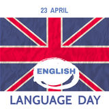 English day. Learning languages design concept.Template poster, banner.Vector illustration Royalty Free Stock Photo