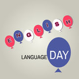 English day1. Learning languages design concept.Template poster, banner.Vector illustration Royalty Free Stock Images