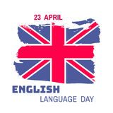 English day10. Learning languages design concept.Template poster, banner.Vector illustration Royalty Free Stock Image