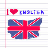 English day12. Learning languages design concept.Template poster, banner.Vector illustration Stock Photo