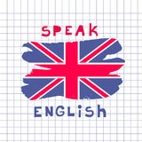 English day11. Learning languages design concept.Template poster, banner.Vector illustration Stock Photography
