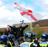 English Defence League Protest. Protestors from the EDL - English Defence League Stock Photo
