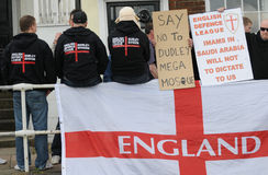 English Defence League Protest. Protestors from the EDL - English Defence League Stock Images