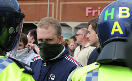 English Defence League Protest. Protestors from the EDL - English Defence League Royalty Free Stock Image