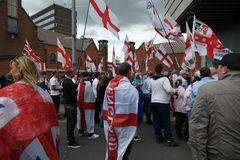 English Defence League Rally Royalty Free Stock Image