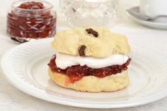 English devon cream tea Royalty Free Stock Photography