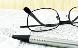 English dictionary Stock Photos