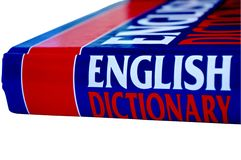 English dictionary Royalty Free Stock Photo