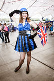 English Dr Who girl Stock Photos
