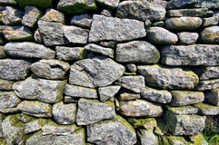 English Dry Stone Wall. Photo of an English Dry Stone Wall in the county of West Yorkshire Royalty Free Stock Photos