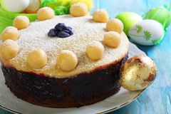 English Easter cake closeup. Royalty Free Stock Image