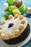 English Easter cake with marzipan. Royalty Free Stock Photo