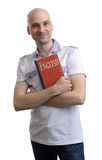 English education. Happy casual man with book Royalty Free Stock Images