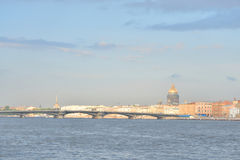 The English Embankment and The Annunciation Bridge. Royalty Free Stock Photo