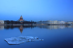 The English embankment, St. Isaac Cathedral, St. P Stock Photos
