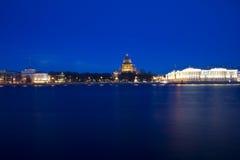English embankment, St. Petersburg, Russia Royalty Free Stock Photos
