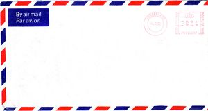 English envelope. Isolate over white Royalty Free Stock Photography