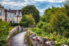 English evening village Stock Image