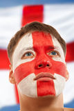 English fans at the stadium Stock Image