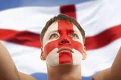 English fans at the stadium Royalty Free Stock Photo