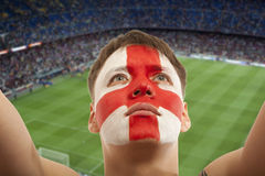 English fans at the stadium Stock Images