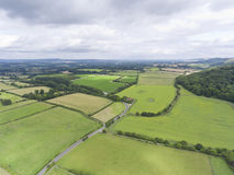 English farm lands top view Royalty Free Stock Image