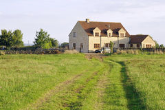 English Farmhouse and Grounds Royalty Free Stock Image