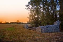 English Faversham stone chapel at sunset Royalty Free Stock Photography