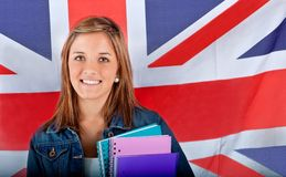 English female student Stock Image