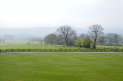 English field and farmland. A view of the farmland in Ampleforth. Photo taken April 2015 Stock Image