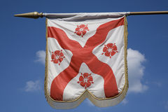 English Flag. Flag showing a representation of the Saint George's Cross, the English flag Stock Photography