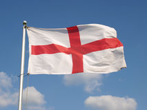 English Flag. The English Flag, The Saint George's Cross, Flying at Full Mast Royalty Free Stock Photos