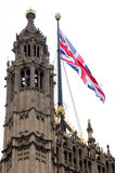 English flag. On Parliament, London Stock Images