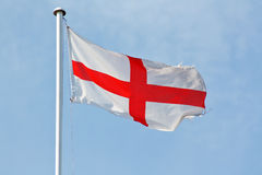 English flag. National flag of england and the english the st george's cross a red cross on white Stock Photo