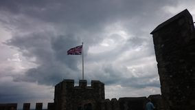 English Flag. The english Flag at dover Castle Royalty Free Stock Photography