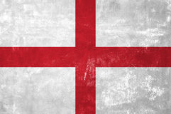 English Flag. England - English Flag on Old Grunge Texture Background stock photography