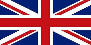 English flag, flat layout, vector illustration royalty free stock image