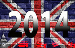 2014, English flag, Great Britain Stock Image