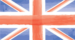 English flag. Great Britain watercolor painted flag isolated Royalty Free Stock Image