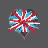 English Flag In Heart Royalty Free Stock Image