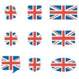 English flag icons royalty free illustration