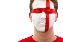 English Flag - Male Face Stock Photos
