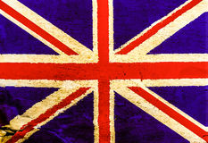 English flag on old brown paper Royalty Free Stock Photo