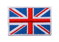 English Flag Patch Royalty Free Stock Image