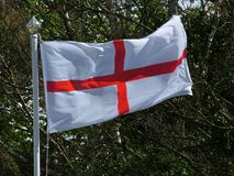 English Flag of St. George. The Cross of St. George flag or the English Flag Of St. George royalty free stock photos