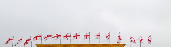 English Flags. Royalty Free Stock Photos