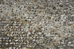 English flint stone wall Royalty Free Stock Photo